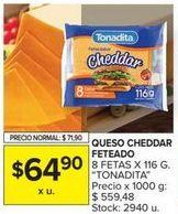 Oferta de Queso cheddar Tonadita por $64,9