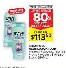 Oferta de Shampoo/ acondicionador Elvive por $113,5