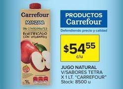Oferta de Jugos Carrefour por $54,55