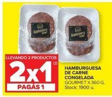 Oferta de Hamburguesas de vaca por