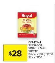 Oferta de Gelatina Royal por $28