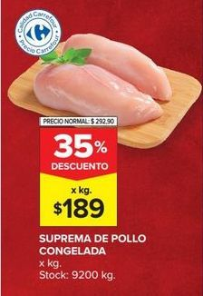 Oferta de Pechuga de pollo por $189