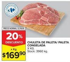 Oferta de Chuleta de paleta/ paleta congelada por $169,9