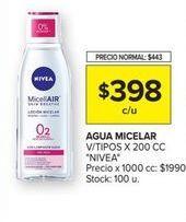 Oferta de Agua micelar Nivea por $398