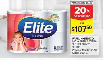 Oferta de Papel higiénico Elite por $107,5