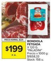 Oferta de Bondiola Paladini por $199