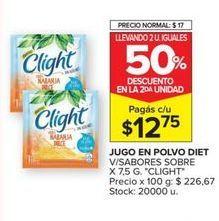Oferta de Jugo en polvo Clight por $12,75