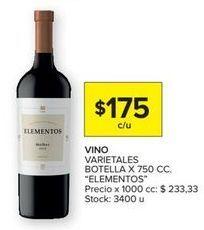 Oferta de Vino tinto Elementos por $175