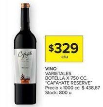 Oferta de Vino tinto Cafayate por $329