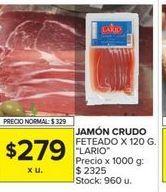 Oferta de Jamon feteado x 120gr LARIO  por $279