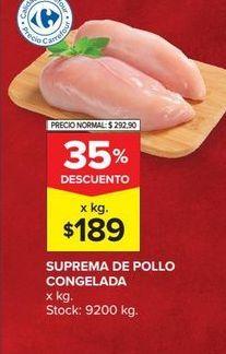 Oferta de Suprema de pollo congelada  por $189
