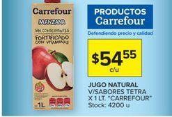 Oferta de Jugo natural v7sabores tetra x 1lt  CARREFOUR  por $54,55