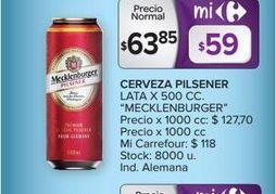 Oferta de Cerveza pilsener lata x 500cc  por $63,85