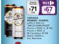Oferta de Cerveza weibier/dunkel lata x 500cc  por $71