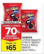 Oferta de Gomitas v/tipos paquete x 150gr MOGUL  por $65