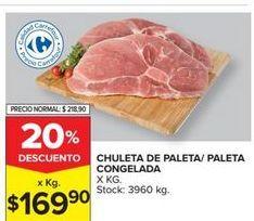 Oferta de Chuleta de paleta/paleta congelada  por $169,9