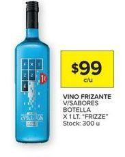 Oferta de Vino frizante v/sabores botella x 1lt FRIZZE  por $99
