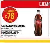 Oferta de Gaseosas Coca cola o sprite 1,5lt  por $78