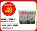 Oferta de Leche UAT lechelita 1 lt  por $49