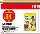 Oferta de Cacao Nesquik 360gr  por $84