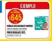 Oferta de Pañales descartables Pampers por $645