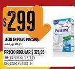 Oferta de Leche en polvo Purisima  por $299