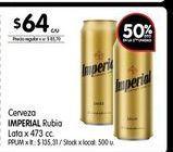 Oferta de Cerveza Imperial rubia lata x 473cc por $64