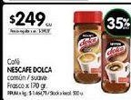 Oferta de Cafe Nescafé Dolca  170gr por $249
