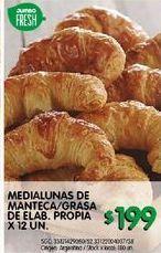 Oferta de Medialunas de manteca/grasa de elab.propia x 12un. por $199
