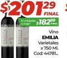 Oferta de Vino Emilia x 750ml  por $201,29