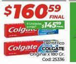 Oferta de Dentrifico Colgate original x 180gr  por $160,59