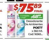 Oferta de Desodorante de ambiente Poett x 360ml  por $75,89