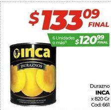Oferta de Durazno Inca x 820gr por $133,09
