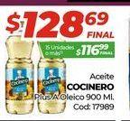 Oferta de Aceite Cocinero 900ml  por $128,69