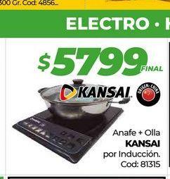 Oferta de Anafe + olla KANSAI por induccion  por $5799