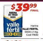 Oferta de Harina Valle Fertil 0000 x 1kg  por $39,99