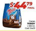 Oferta de Cacao en polvo Toddy por $44,79