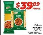 Oferta de Fideos Knorr por $39,89