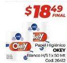 Oferta de Papel higiénico Okey por $18,49