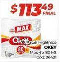 Oferta de Papel higiénico Okey por $113,49