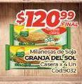 Oferta de Hamburguesas de soja Granja del Sol por $120,99