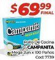 Oferta de Papel de cocina Campanita por $69,99