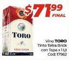 Oferta de Vino tinto Toro por $71,99