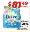 Oferta de Detergente en polvo Drive por $81,49