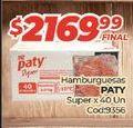 Oferta de Hamburguesas Paty por $2169,99