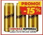 Oferta de Latas de cerveza Imperial por