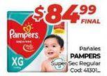 Oferta de Pañales Pampers por $84,99