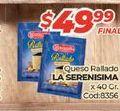 Oferta de Queso rallado La Serenísima por $49,99