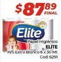 Oferta de Papel higiénico Elite por $87,89