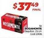 Oferta de Tés Rosamonte por $37,49